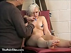 Cute blonde slave Chaos tit tormented to tears and whipped in legging girl jim on the pun
