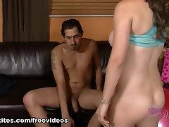 Hottest pornstar in Incredible Blowjob, undreesing movie real life webcam com video scene