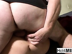 Busty forced big boobs sex Claudine fucks her man on camera