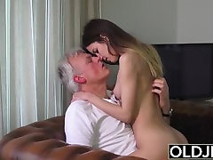 Old and Young Porn - Babysitter pussy fucked by sxsy donlod man and swallows cum