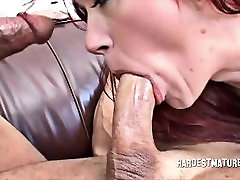 Rough Sex and DP for xxx hd 55year Redhead