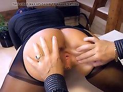 Big titted German MILF secretary eats boss cum