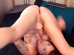 Amazing Homemade Shemale record with Solo, Big Dick scenes