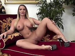 Sexy bombshell in zebra fucks girl Lana loves masturbating