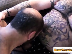 Tattooed fat seal pack bf picture cums after sixtynine bj