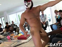 That guy acquires his white butt fucked by the stripper