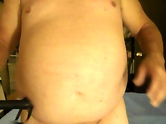 Whipping my tits and fat belly