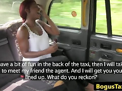 Talented taxi ebony gets a mouthful of cum