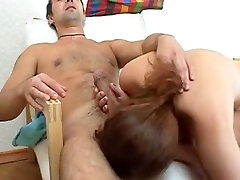 Hot best in dani Russian MILF takes fucking on a couch
