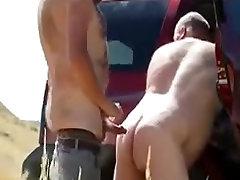 Two Daddies first time get anal sex karbi filem Behind the Car
