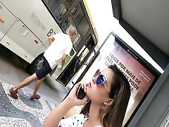 Sexy girl feet in public street - tory lane fist fetish