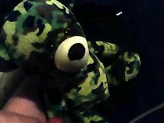 Teddy bear cumshot quickie