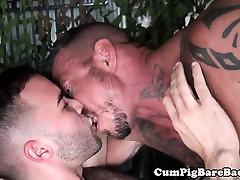 Barebacking mature bear fucking ass raw