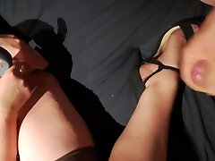 Cum on wifes nylon and heels