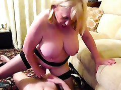 AgedLovE Mature tied forced fleshlight Trisha and Sam Hardcore
