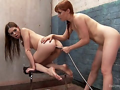 Red Head Fistings, Anal Strap-on, Gaping and Face dildos