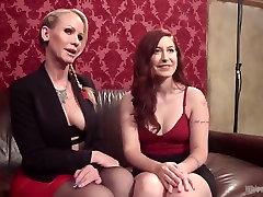 Casting Couch: bisex mmf cutie talent recruiter initiates horny lesbian slut!