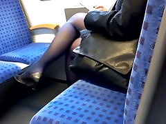 Mature BBW in black bums fucked nylons and pumps
