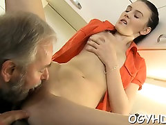 Young playgirl gets brave to suck old knob of a hd sex big body xxx lad