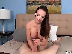 Sexy brunette POV handjob