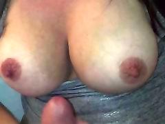 Cum on Jiggling Tits