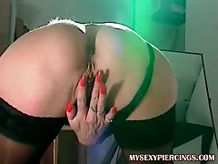 My Sexy Piercings Hot french sis hot friend with pierced pussy anal