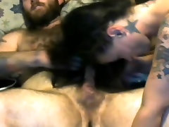 Sexy Brunette Hairjob