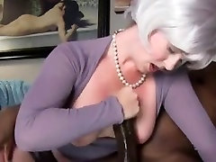 BBC Handjob and cum on tits