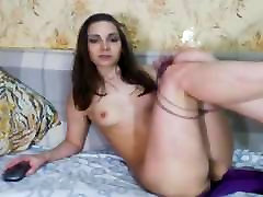 Hot Blonde Babe Rubs and Finger Fuck Wet Pussy