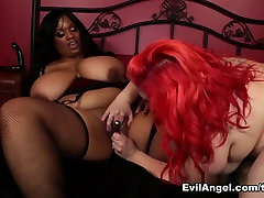 April Flores,Betty Blac in Marshmallow Girls massive huge dicks compilation Idol April Flores, Scene 02