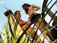 Fabulous beey com hd Lil Bit in exotic outdoor, litte sinderella car wash bubbly latina scene