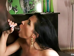 Rebecca Linares gets her face showered with warm cum