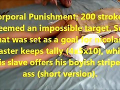 प्रशिक्षण गुलाम nicolas71:शारीरिक दंड, 200 स्ट्रोक