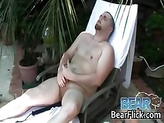 Beefy gay bear jerking off by BearFlick part5