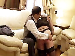 Japanese master spanked and tied up an european slut
