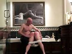 Hairbrush spanking part 1