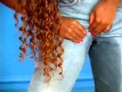 Ebony wetting jeans
