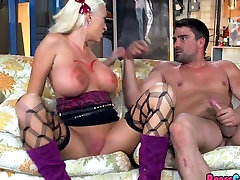 Blonde Nude Model gets it on with Painter
