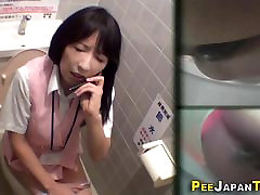 Asian teen pees on camer