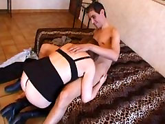 Sarah and Justine nice swingers fuck in stockings