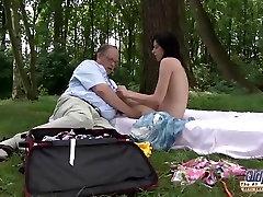 SENAS JAUNAS Romantiškas Seksas Lauke, Riebalų Vyras Gražus Paauglių