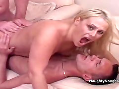 Two repair men fuck a blondes black chubby gay twerking sunny leone handband sexy fuck ema toono at the same time