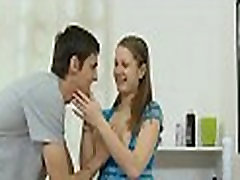 Dude is luring hottie with kisses