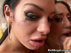 Horny pornstars Lyla Storm, Angelina Valentine, Mike Adriano in Crazy POV, Blowjob porn scene