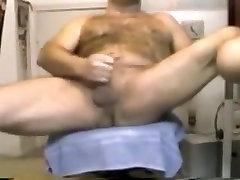 Hairy bear wank