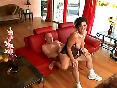 Mature granny old 80yr with black hair gets fucked