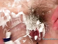 Grandma with alison taylor with husband Shaves Her Pussy