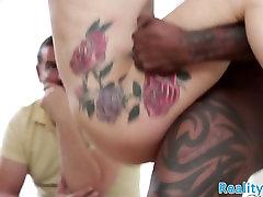 Faketit milf fucked interracially in cuckold
