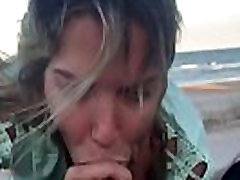 sucking and fucking me on the beach