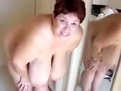 Crazy Homemade clip with BBW, Solo scenes